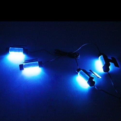 Ecloud Shop 4 x 3 Neon Auto KFZ LED Innenraumbeleuchtung Fu/ßraumbeleuchtung Blau Neu