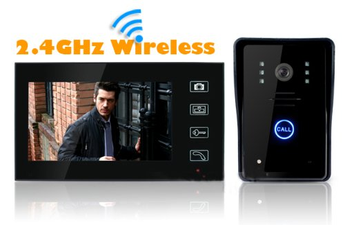 (7inches LCD Touch Screen & Two-way Intercom & Hands-free Monitor & Night-vision & Waterproof& 16 Kinds of Rings for Selection ) New Arrival! Hot Sale! Wireless 7'' LCD Phone Intercom Video Door Doorbell Home Security Ir Camera Monitor