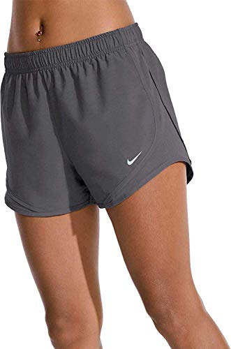 Nike Women's Tempo Heatherized Running Shorts (Gunsmoke/HTR/Medium)
