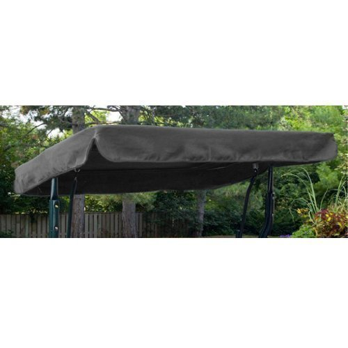 Water Resistant 3 Seater Replacement Canopy ONLY For Swing Seat Garden Hammock In Grey