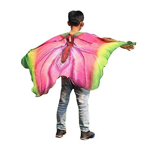 FarJing Child Kids Boys Girls Bohemian Butterfly Print Shawl Pashmina Costume Accessory Shawl (Multicolor ()