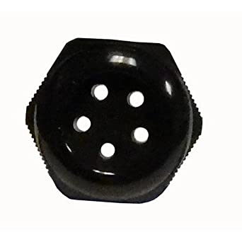 Morris 22257 Multi Conductor Cable Gland 3//4 Thread Size Nylon NPT Thread 3 Holes 0.244-0.315 Cable Size