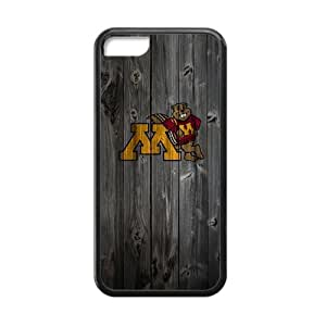 Unique Design NCAA Vintage Wood Pattern iPhone5C Snap On Case Cover Logo Case Plastic and TPU