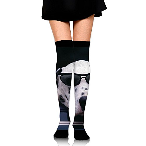 3D Printing Graffiti Knee High Socks Adult Unisex Dalmatian Face Sunglasses Dog Stockings Socks Long Colorful For Man And Woman Leg - Coloring Page Sunglasses