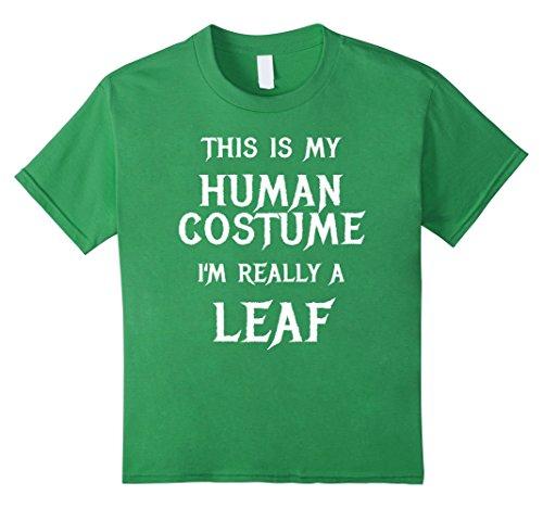 Kids I'm Really a Leaf Halloween Costume Shirt Easy Funny 8 (Leaf Halloween Costume Ideas)