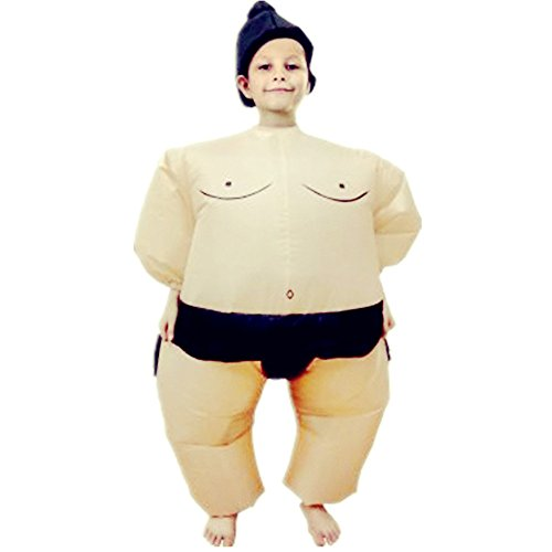 yuanyistyle Costumes Childrens Boys Girls Sumo Kids Costume (Girl In Inflatable Suit)