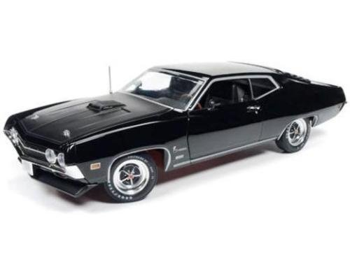 1970 Ford Torino Cobra Jet 429 Raven Black Limited Edition to 1002pcs 1/18 by Autoworld AMM1085 (Cobra Chin Spoiler)