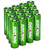 16 x Rayovac AA Recharge PLUS 2400 mAh Rechargable NiMH Batteries w/ free battery holders (16 AA batteries) packaging may vary