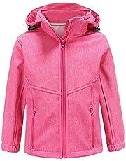 Hiheart Boys Girls Hooded Softshell Jacket Outdoor Windbreaker