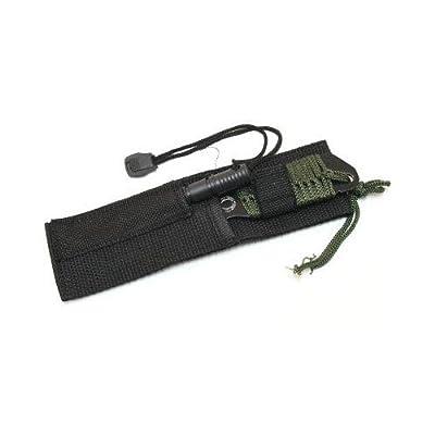 7' Carbon Steel Hunting Knife with Stringed Firestarter W5736