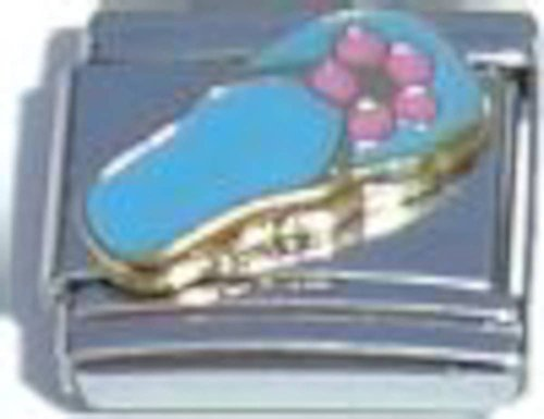 Flip Flop Blue Italian Charm