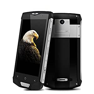 Blackview BV8000 Pro 5.0 inches Android 7.0 IP68 Waterproof Dustproof FDD-LTE 6GB RAM 64GB ROM Outdoor Ragged Tough MTK6757 2.3GHz Octa Core 4180mAh Fingerprint GPS Smartphone (Eagle Silver)