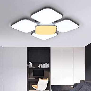 Lámpara LED de techo de 34 W, 7440 lúmenes, iluminación moderna ...