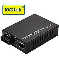 10/100Mbps Fast Ethernet Media Converter, single-mode SC fiber, up to 20KM, 10/100Base-TX to 100Base-FX