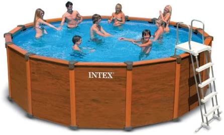 Piscina aspecto de madera Sequoia Spirit Intex 4M78 x 1M24: Amazon ...
