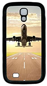 Galaxy S4 Case, Personalized Protective Soft Rubber TPU Black Edge Fly Case Cover for Samsung Galaxy S4 I9500