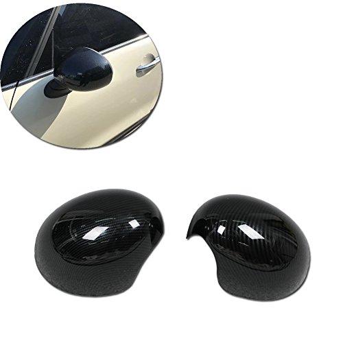 (Rqing For 2018 2019 New MINI COOPER/MINI COOPER S Rear View Mirror Cover Trims (Carbon Fiber) )