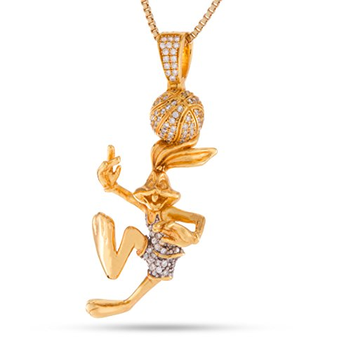 Space Jam x KING ICE – Bugs Bunny Necklace (14K Gold Plated) by King Ice