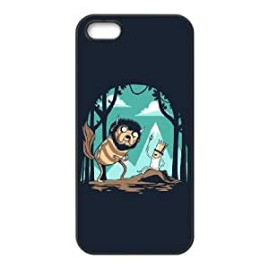 Special Design Case iPhone 5, 5S Black Cell Phone Case Rulal Adventure Time Durable Rubber Cover