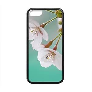 Dreamy Fresh Cherry Flower Black Phone Case for Iphone 5C