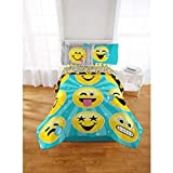 Emoji Bed in a Bag Twin Emoji Nation Forever Happy Bed-In-A-Bag Bedding Set, Reversible Comforter, Made of 100-Percent Polyester (Twin)