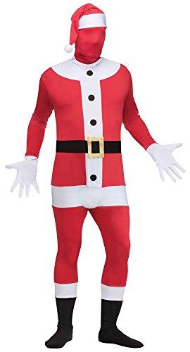 Skin Suit Santa Costumes - Fun World Costumes Men's Santa Skin