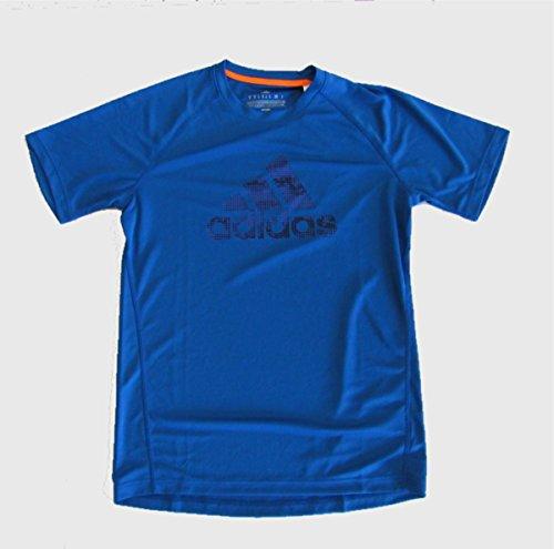 Adidas Performance Climalite Logo Tshirt (X-Large, Blue)