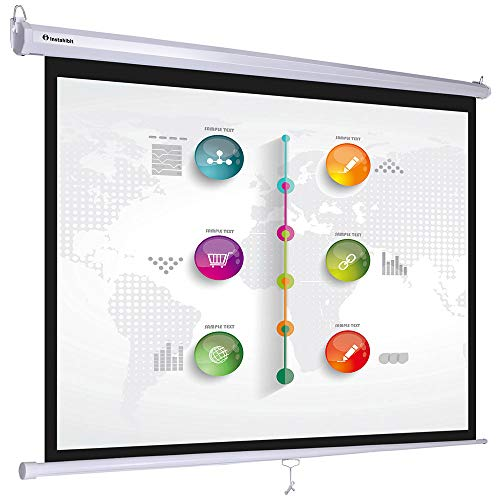 Instahibit 72inches Diagonal 4:3 Manual Pull Down Projection Screen Matte 57″ x 43″ White