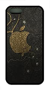 iPhone 5s Case, iPhone 5s Cases - Leopard apple logo TPU Polycarbonate Hard Case Back Cover for iPhone 5s¨CBlack