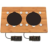 Rosseto BP009 Multi Chef Double Induction Bamboo Surface with 4 magnets
