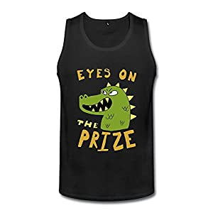 XL Bert Pandora Mens Dinosaur Eyes On The Prize Funny Tank Top