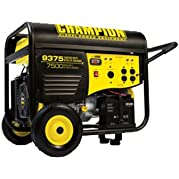 Champion Power Equipment 41534 9,500 Watt 439cc 4-Stroke Gas Powered Portable Generator With Electric Start (CARB...