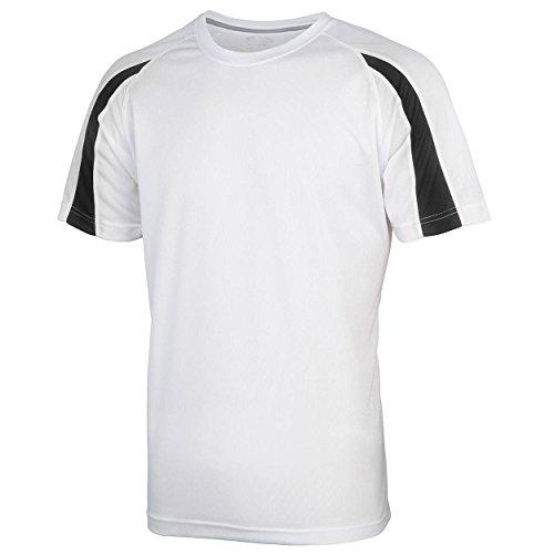 Arctic Black manga hombre corta para White Absab Ltd Jet Camiseta de qxvq0FB