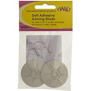 W4 37642 Self Adhesive Awning Stud, Set of 2