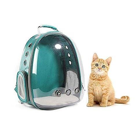 4b281bc07de7 Amazon.com   Leegoal Portable Pet Cat Dog Backpack Carrier Bubble ...