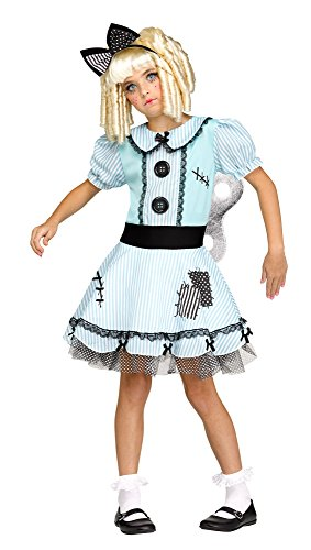Fun World Wind-Up Doll Costume for Girls - Choose (Dead Rag Doll Costume)