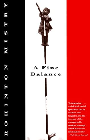 book cover of A Fine Balance