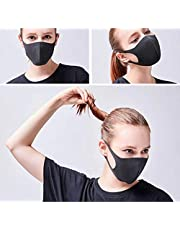 NaNo Reusable Washable Cover Double Layer Easy Breathing (Black)