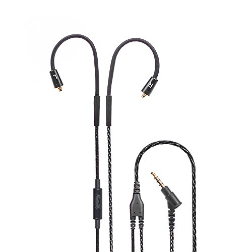 Detachable Earphone Cable Shure SE215 SE315, Replacement Upgrade Audio Cable Cord with Mic Function for Shure SE215 SE315 SE425 SE535 UE900