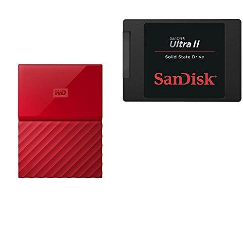 WD My Passport Ultra 500GB USB 3.0 External Hard Drive (Red) - 6