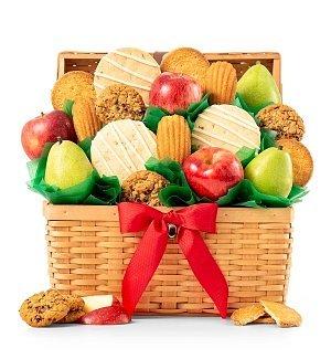 and Gourmet Cookies Gift Basket - Premium Fruit Gift Basket (Gifttree Fruit Basket)