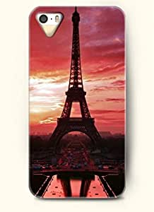 OOFIT Phone Case design with Eiffel Tower at Dusk for Apple iPhone 4 4s 4g