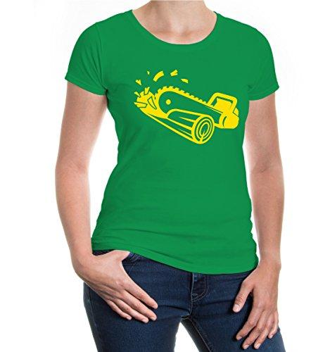 Girlie T-Shirt Chainsaw kellygreen