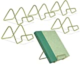 twisted wire easel - Wire Easel Display Stand - Twisted Brass Metal - 3 Inch - Pack of 6 - Craft Accessory - Small Books or Photos