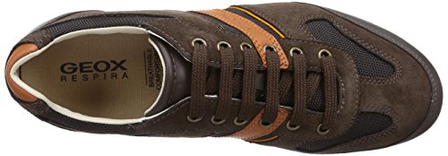 Geox U Houston Una Sneaker In Pelle Da Uomo / Scarpe Di Castagno