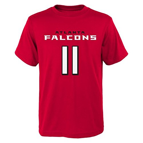 Outerstuff NFL Atlanta Falcons Julio Jones # 11 Youth Boys 8-20 Name & Number Short Sleeve Tee, X-Large (18), Red