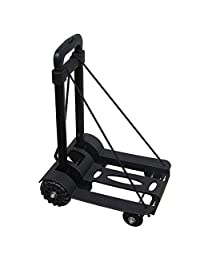 Luggage Cart Foldable 4-Wheel Luggage Wagon - Up to 75KG, for Travel and Heavy Loads