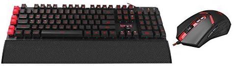 Redragon S102 Yaksa Set de teclado y ratón para gaming, programables, retroiluminación de 7 colores, USB, diseño de león de Nema