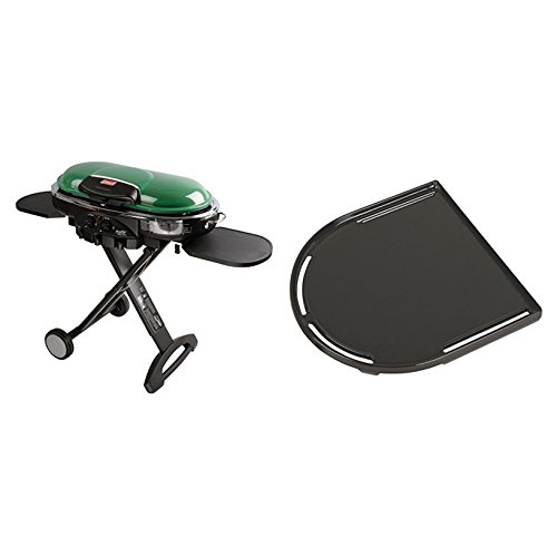 - Bundle Includes 2 Items - Coleman RoadTrip LXE Portable Propane Grill, Green and Coleman RoadTrip Swaptop Cast Iron Griddle