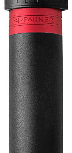 PARKER Ingenuity 5th Technology Pen, Deluxe Black Red, Medium Point with Black Ink Refill by Parker (Image #1)
